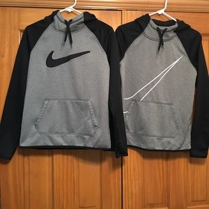 Two Nike Hooded Dri-fit & Therma-fit Sweatshirts